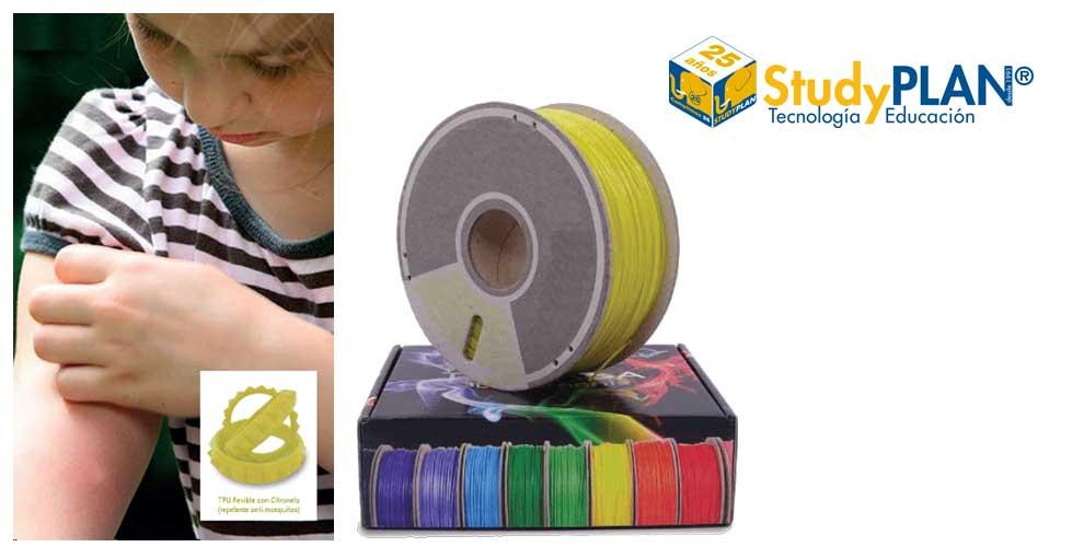 StudyPLAN comercializa el primer filamento anti-mosquitos para impresoras 3D caseras